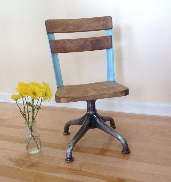Vintage School Chair, 1920s American Seating Company - Vintage School Chair, 1920s American Seating Company Vintage