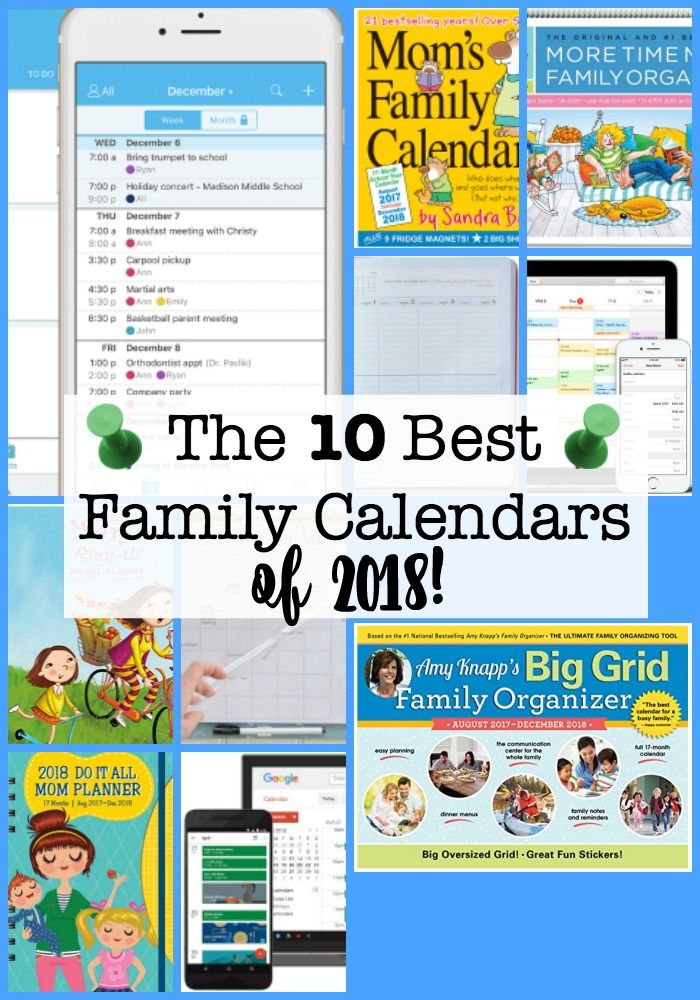 Ping For A New Family Calendar 2019 Here Are The 14 Best Ones To Consider How Do You It Pinterest