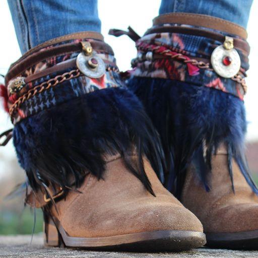 Cubre botas étnico (con imágenes)   Sandalias boho, Cubre