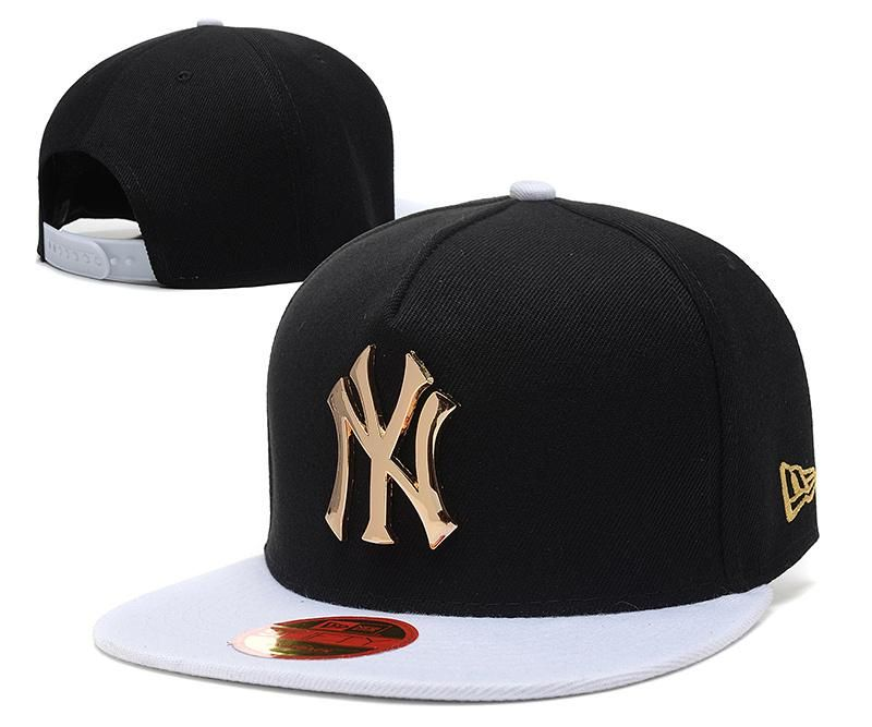 13ac0ef8a8a Men s New York Yankees New Era 9Fifty Gold Metal NY Logo A-Frame Baseball  Snapback Hat - Black   White