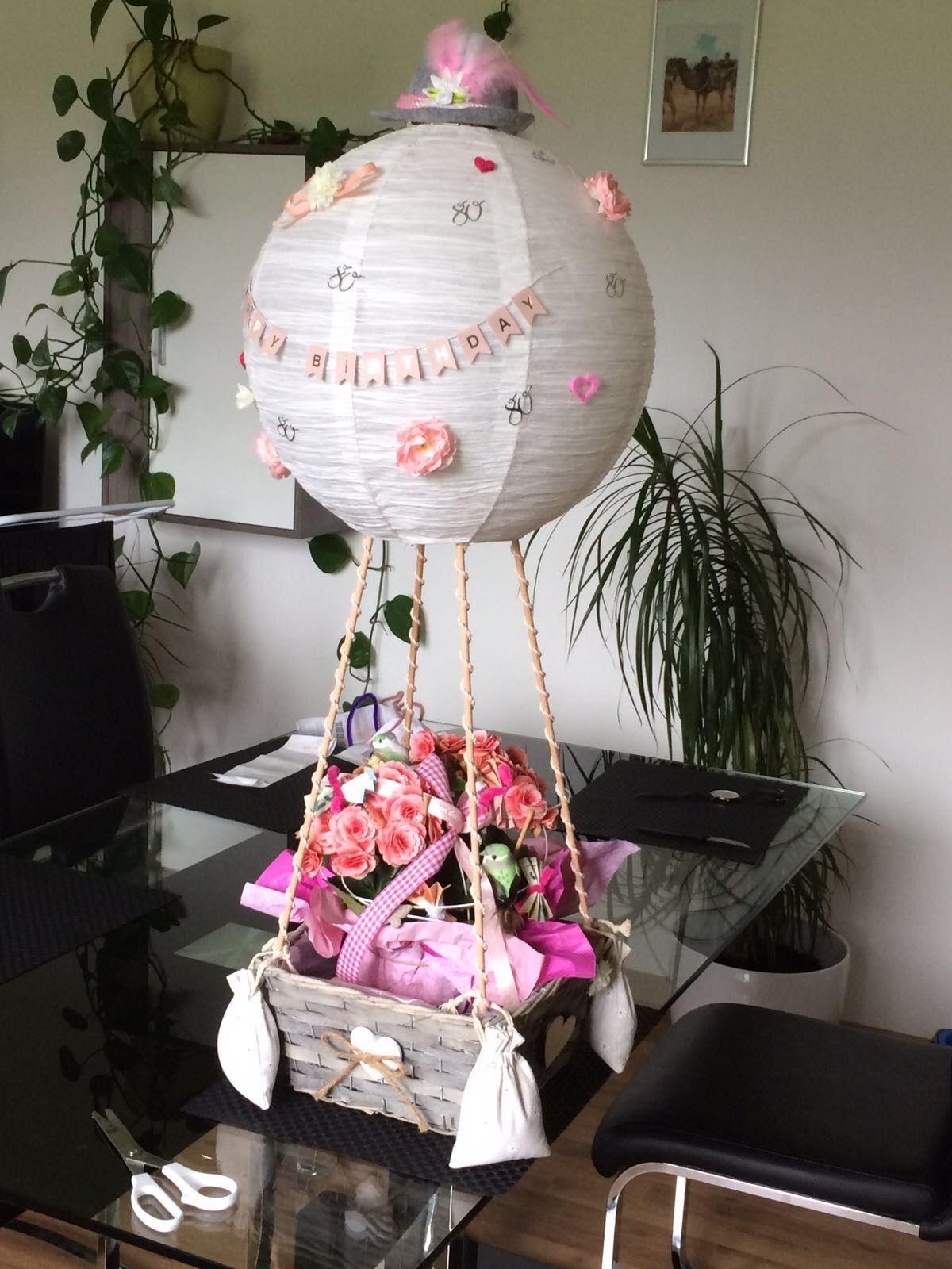 Ballon Mit Korb Zum 80 Geburtstag Birthdaybasket 80