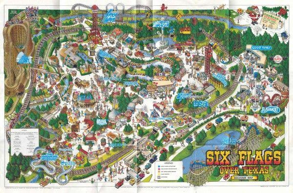 Six Flags Over Texas Theme Park Brochures Six Flags Over Texas Six Flags Texas Theme