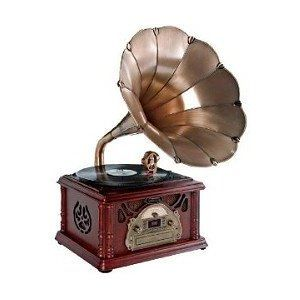 Horn Record Player Phonograph Record Player Vintage Record Player Turntable Record Player