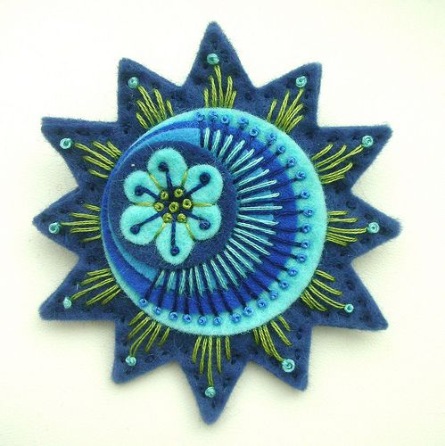 STARBURST FELT BROOCH IN FRENCH NAVY by APPLIQUE-designedbyjane, via Flickr