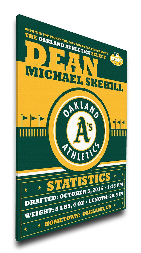 Oakland Athletics Personalized Birth Announcement by ThatsMyTicket