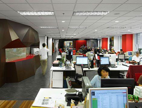 open space Identité visuelle de l'entreprise, Décoration