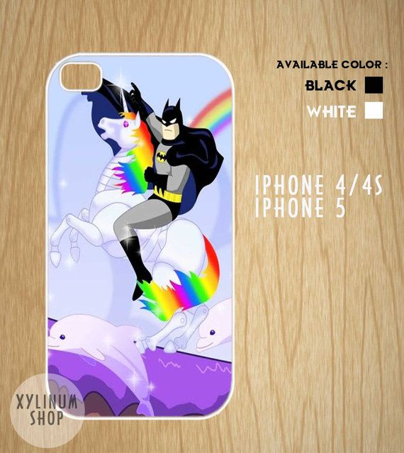 batman riding unicorn case available for iphone 4 iphone. Black Bedroom Furniture Sets. Home Design Ideas
