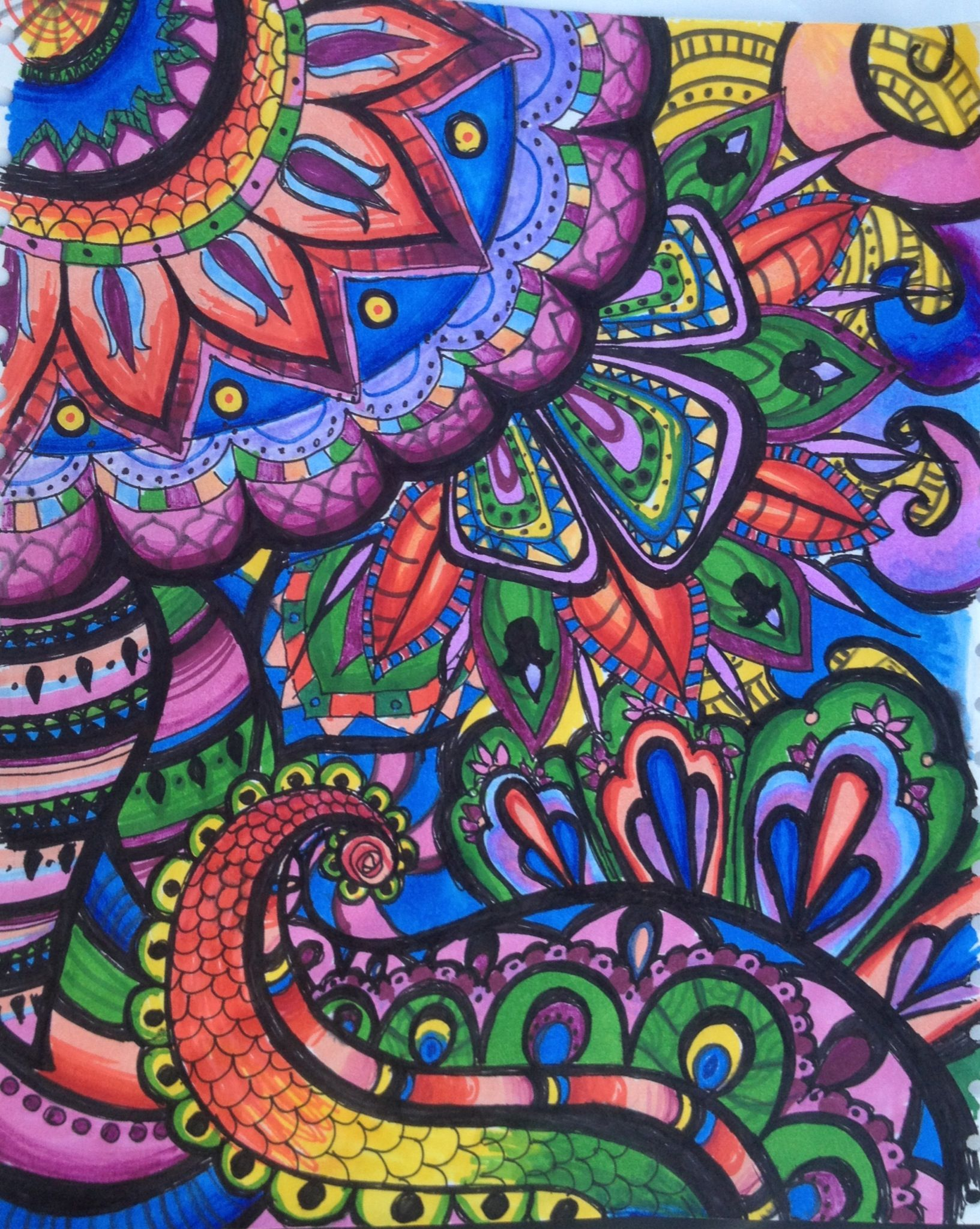 Trippy Art creates by: me | Paisley art, Trippy art ...