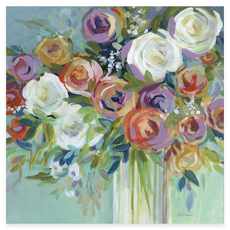 Bouquet of Roses Flowers MULTI CANVAS WALL ART Print Picture