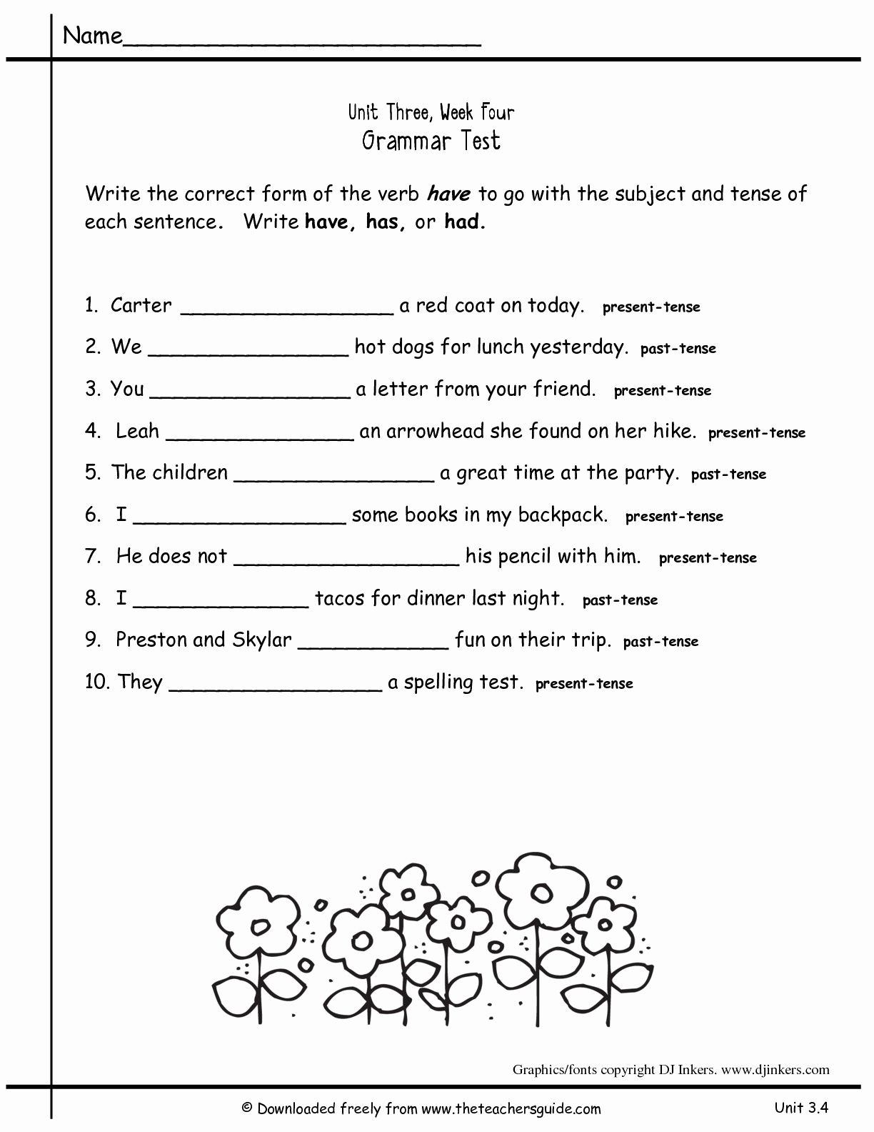 2nd Grade Grammar Worksheets Pdf New Worksheets For All Download And