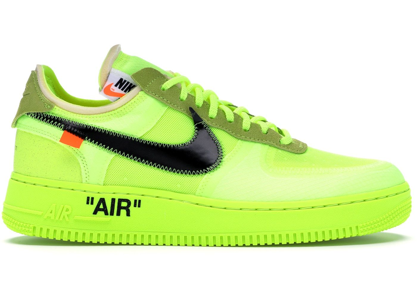 Nike Air Force 1 Low OffWhite Volt Air force shoes