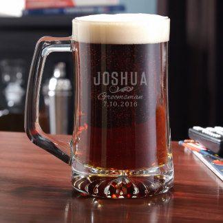 classic groomsman personalized beer mug custom birthday gifts