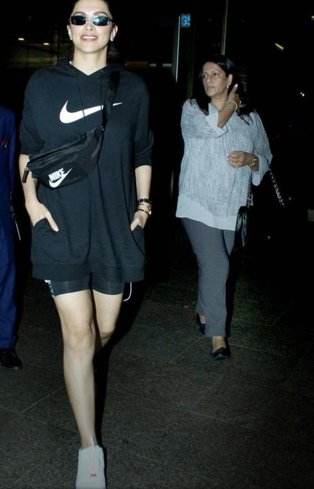 Deepika Padukone and her mother in law at the airport ...