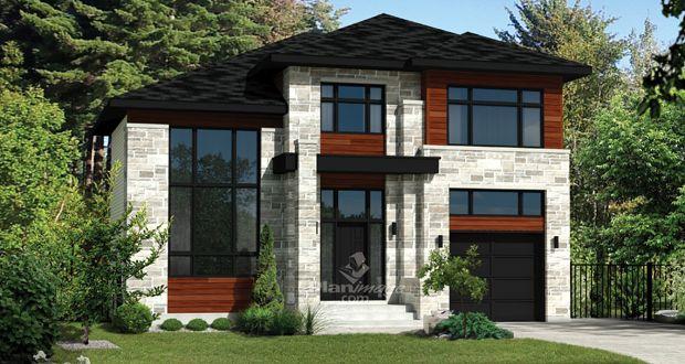 maison moderne revetement exterieur recherche google houses pinterest house plans. Black Bedroom Furniture Sets. Home Design Ideas