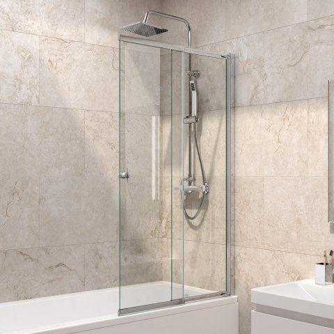 820mm 4mm Sliding Bath Screen Bath Shower Screens Bath Screens Sliding Shower Screens