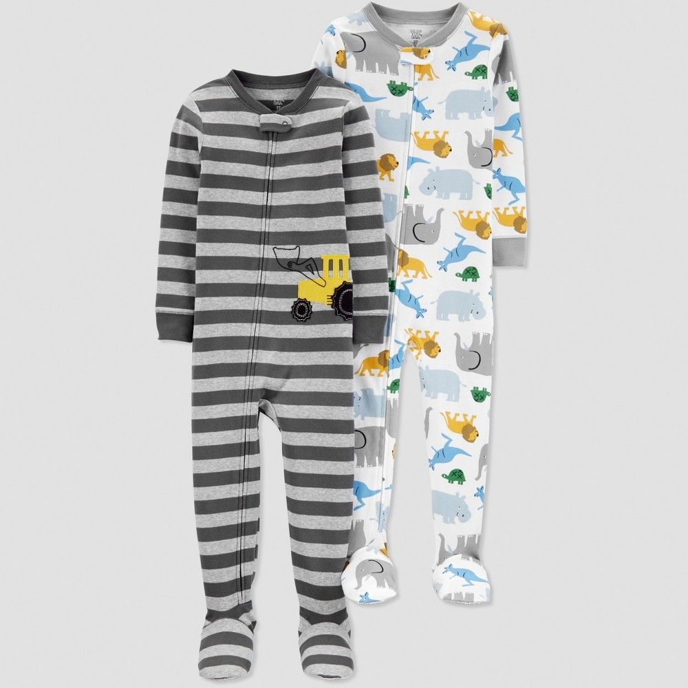 8d025b021 Baby Boys  Construction Pajama Set - Just One You made by carter s ...