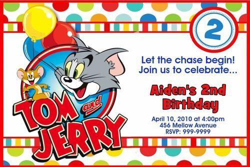 Tom And Jerry Invite Ebay