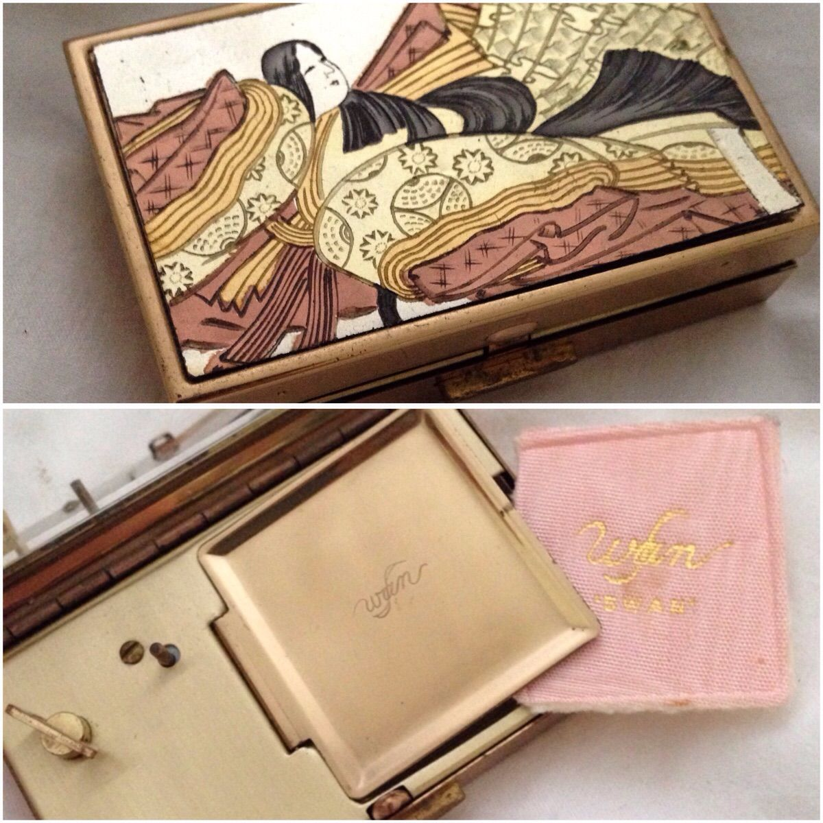 Vintage Japanese compact that is also a music box
