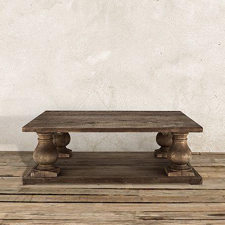 Hudson Rectangle Coffee Table In Brown Arhaus Furniture Coffee