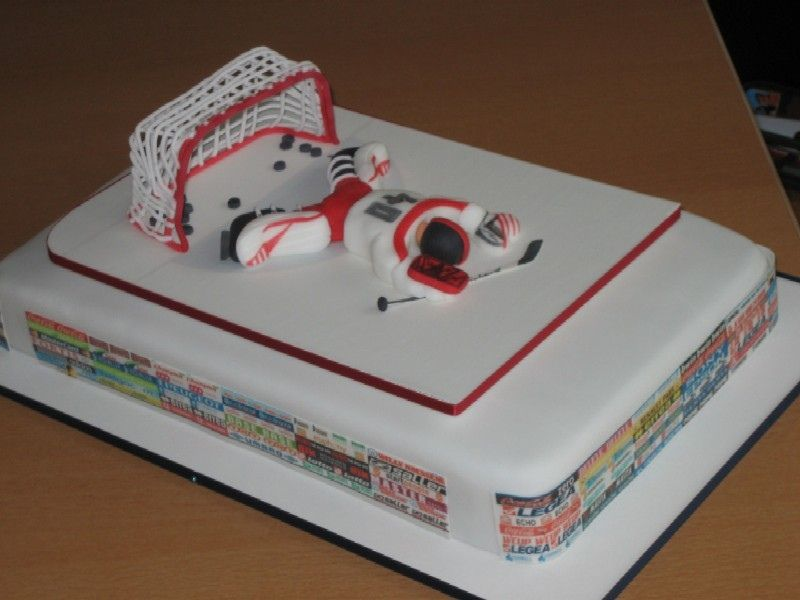 Hockey Goalie Is 40 Hockey Hockey Birthday Cake Hockey Cakes Hockey Birthday