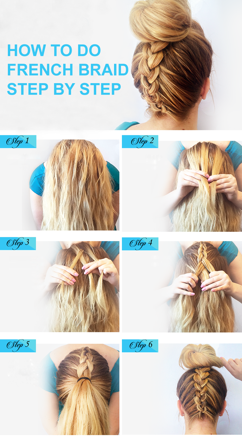 How To Do French Braids Step By Step How To French Braid Hair French Braid Hairstyles Braids Step By Step French Braid