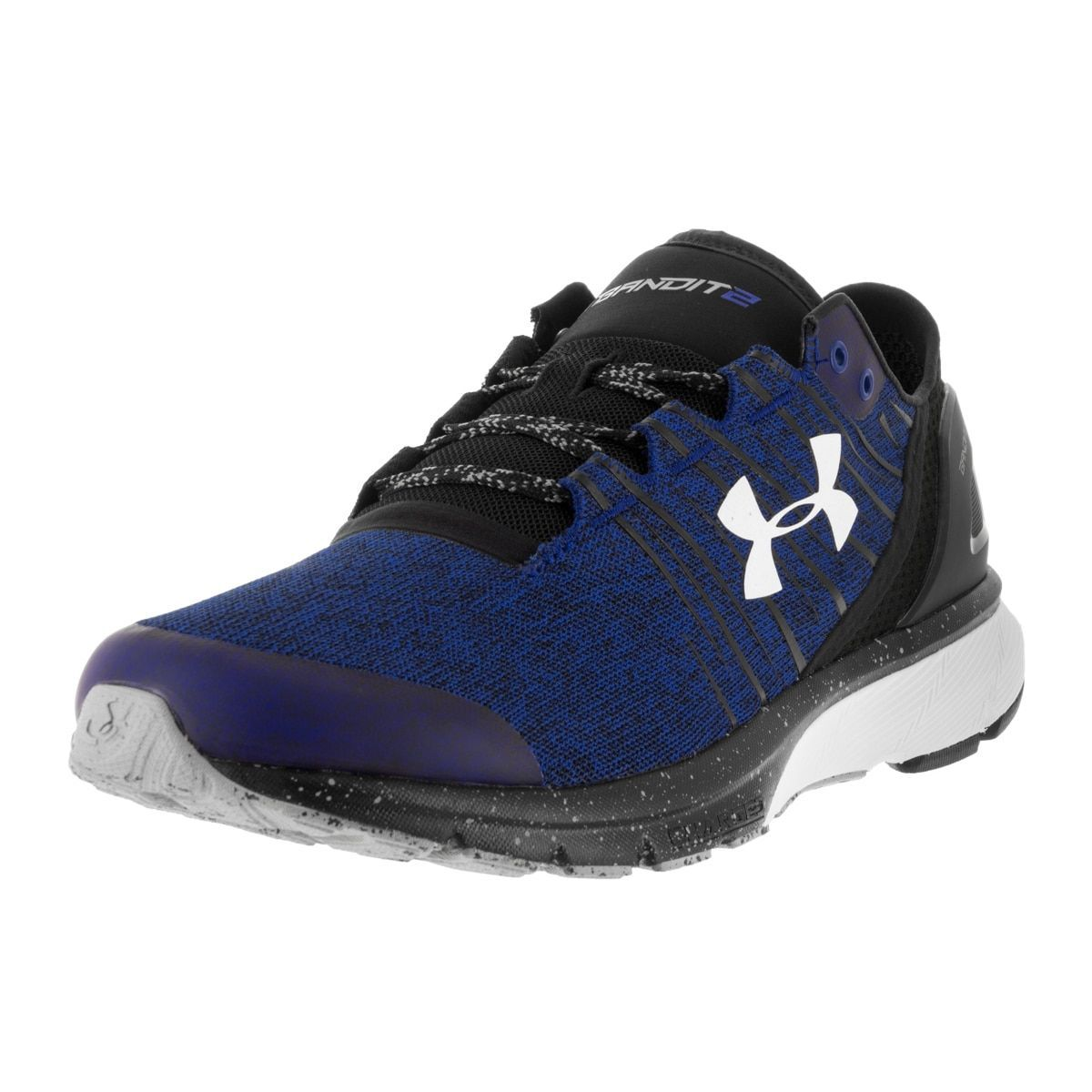 dca462a7c69 Under Armour Men s UA Team Charged Bandit 2 Try Blk Wht Running Shoe ...