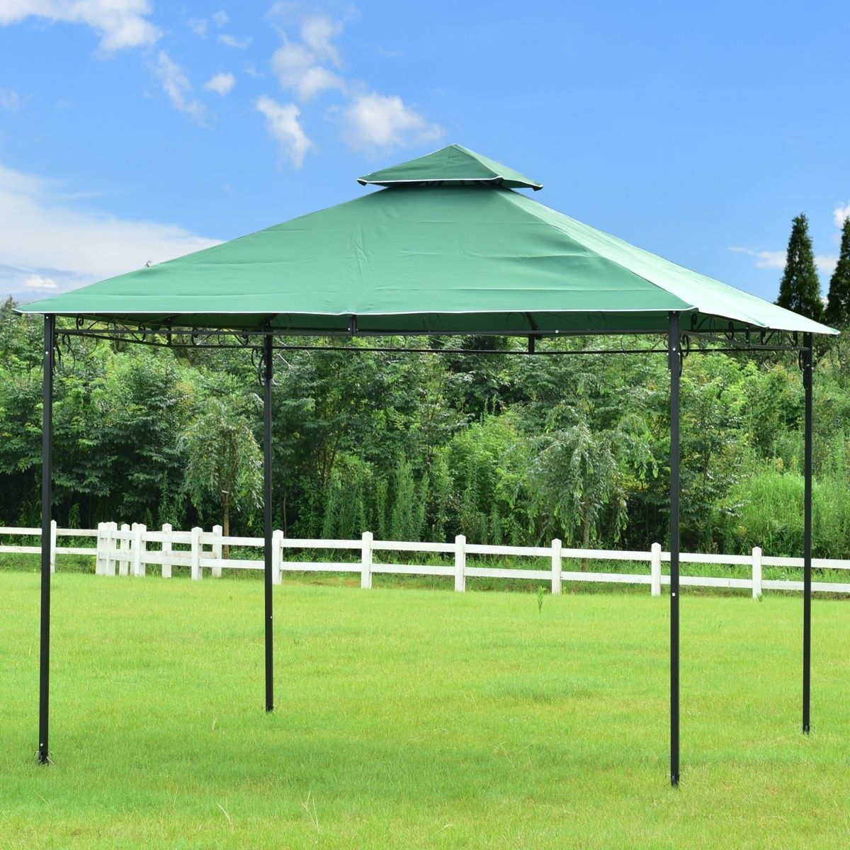 2 Tier 10 X 10 Patio Wedding Party Gazebo 81 95 Free Shipping Material Steel Polyester Fabric Color As The Pi Gazebo Canopy Patio Wedding Garden Awning