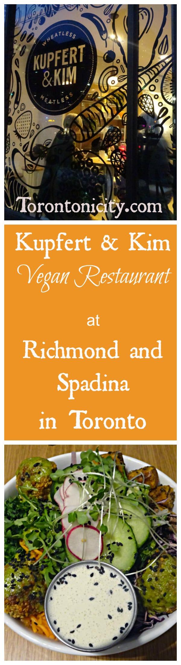 Kupfert Kim Vegan Restaurant At Richmond Street And Spadina Avenue In Toronto