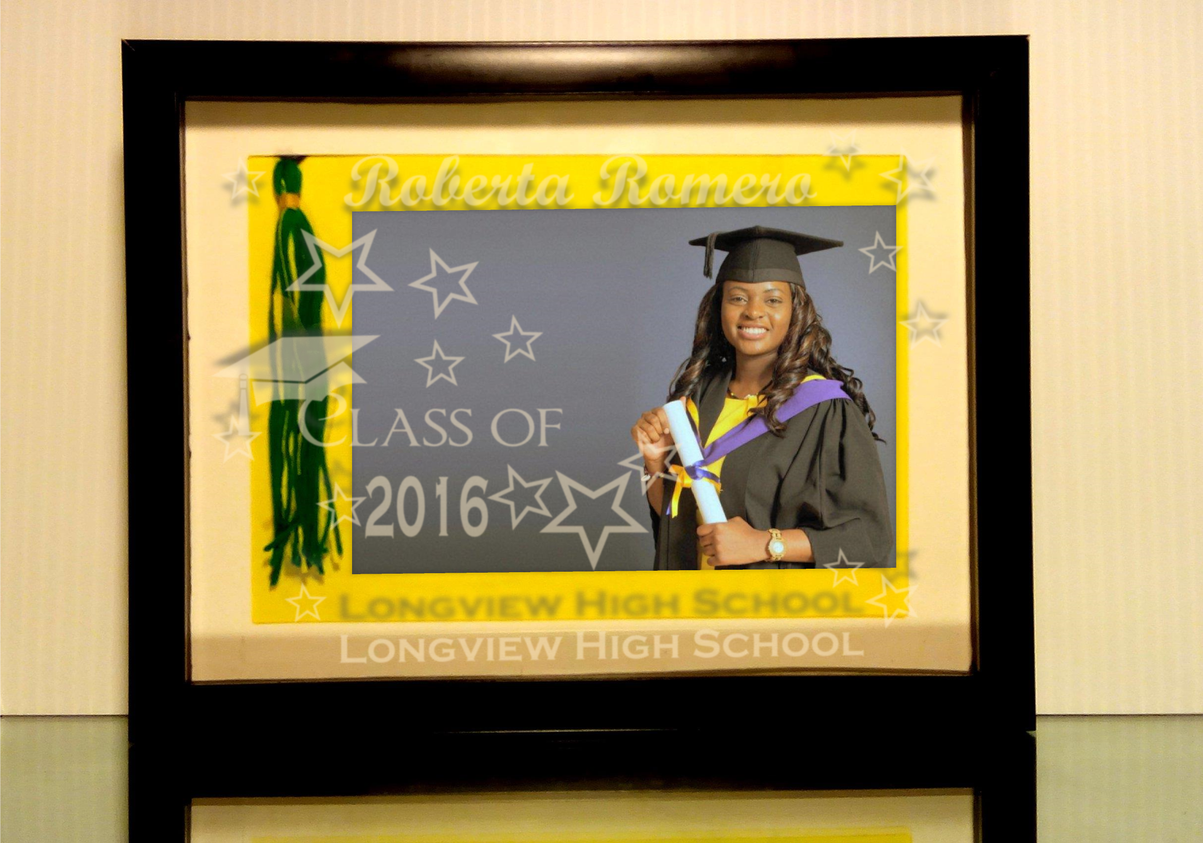 6.5x8.5 inch frames matted to display 5x7 inch under a custom etched ...