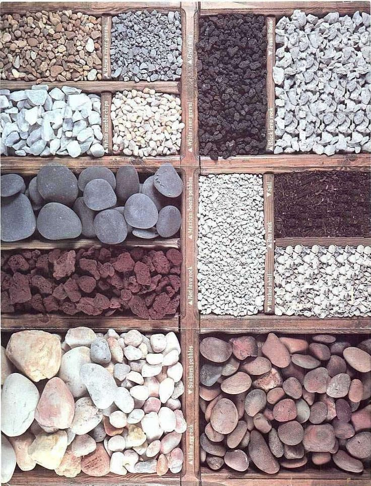 Types of stone mulch gardening landscaping i for Rock landscaping ideas