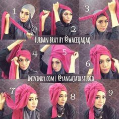 I Like This Style Of Hair Rag Tutorial Hijab Pashmina Jilbab Cantik Jilbab Turban
