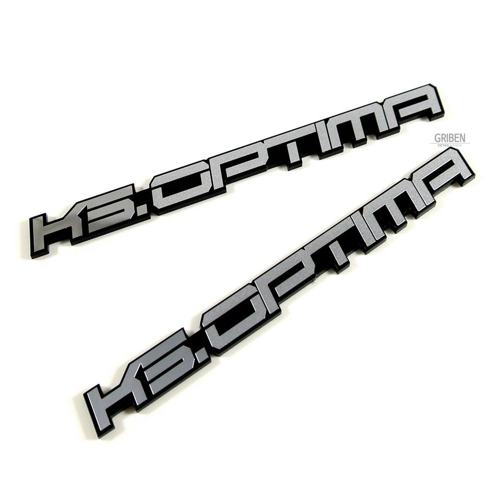 Griben Car Emblem Metal Matte Chrome Pair Small Badge