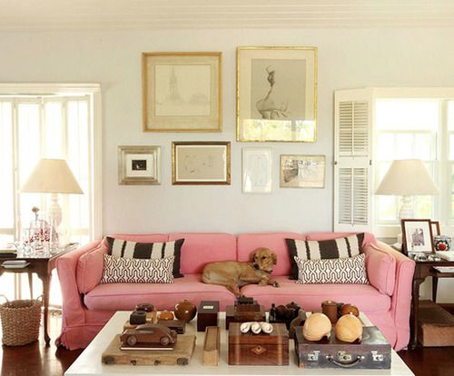 Pink Sofa Picture Layout