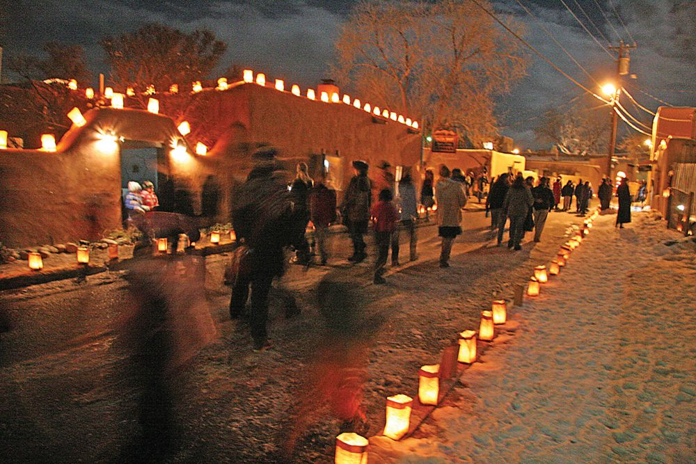 Lighting Of Ledoux A Treasured Taos Tradition Photo By