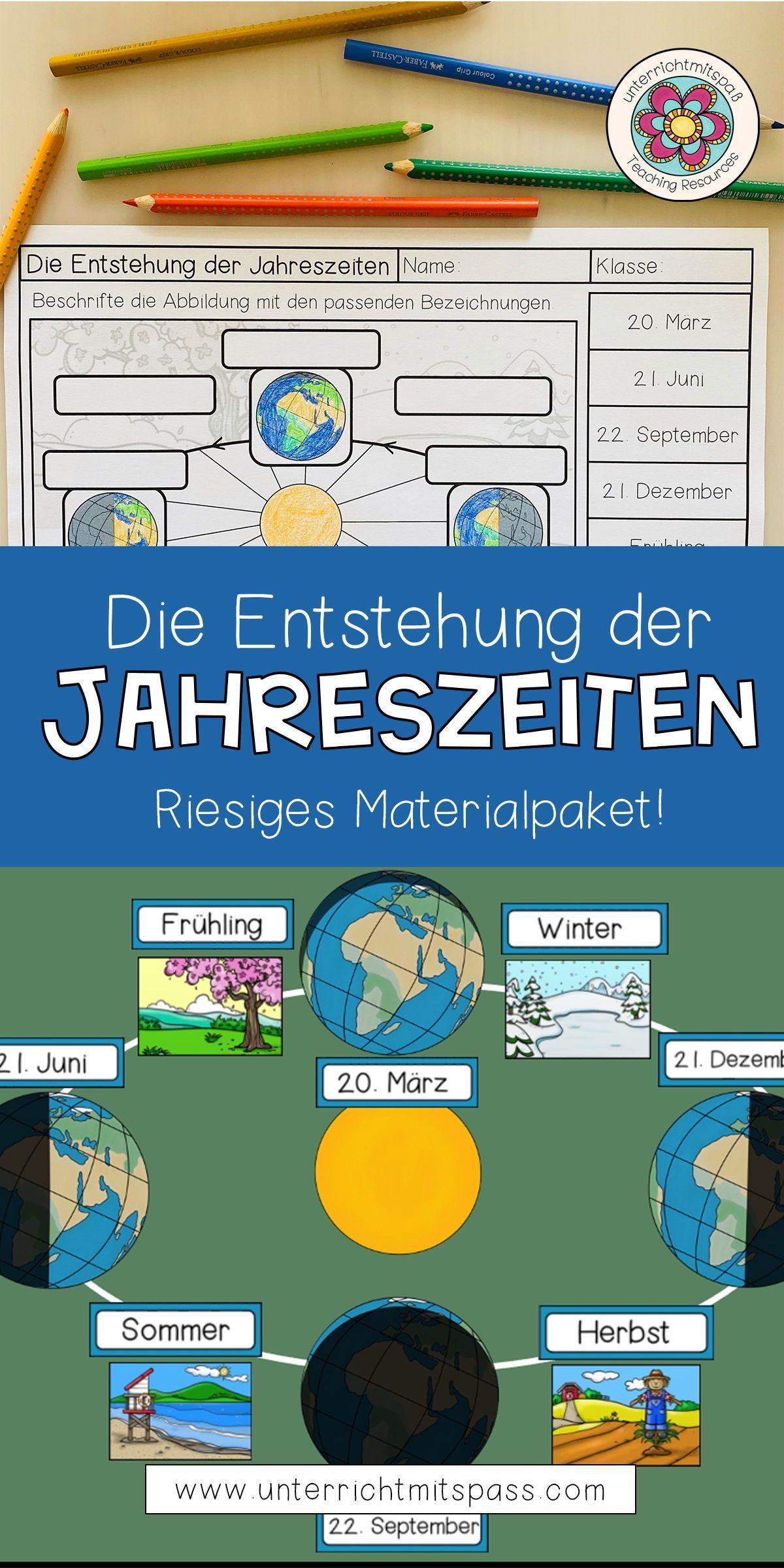Die Entstehung der Jahreszeiten   Lernwerkstatt Materialpaket ...