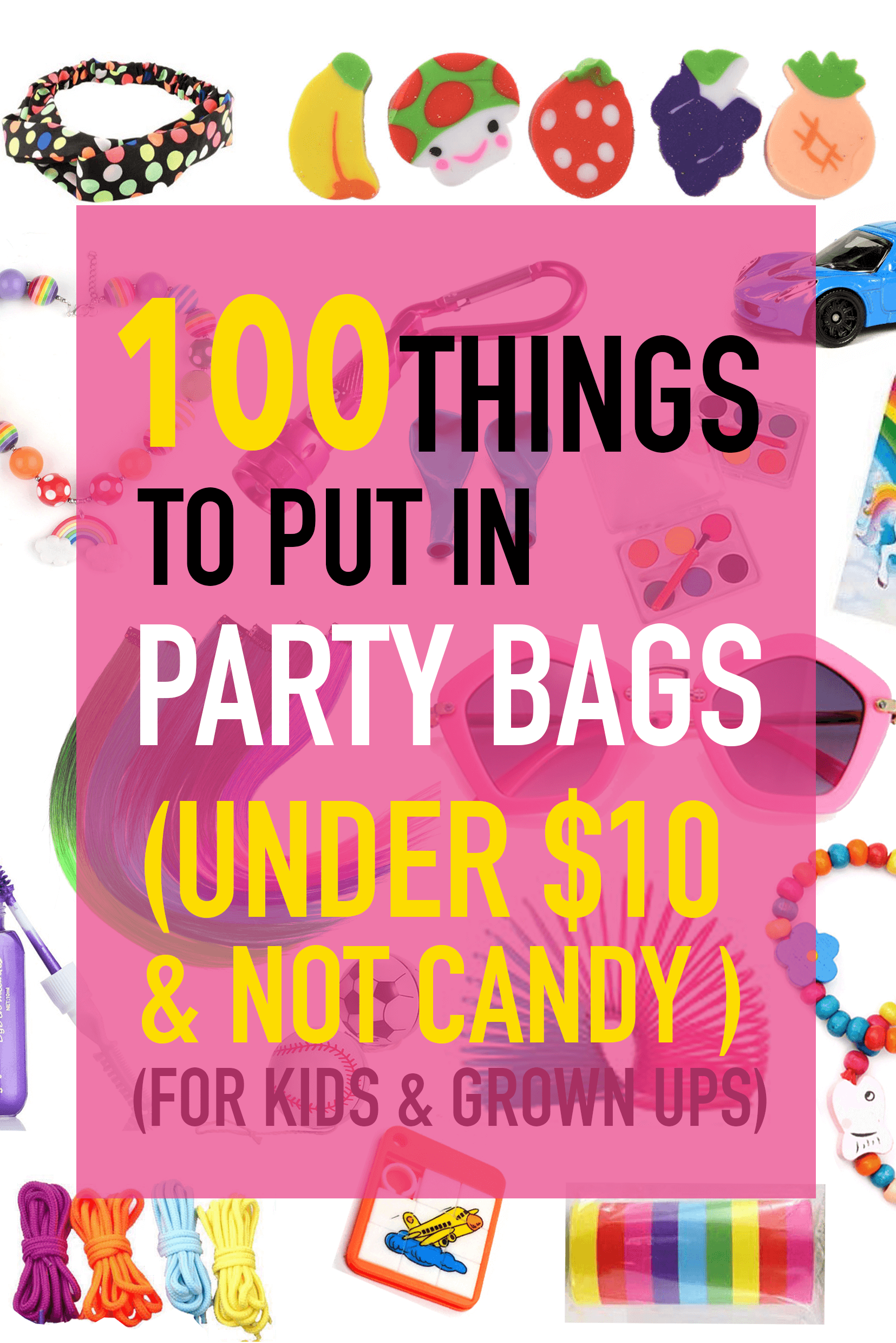 Party Bag Ideas For Kids Loot Stocking Fillers Bags Teens Hens Night Favour Baby Shower Grown Up