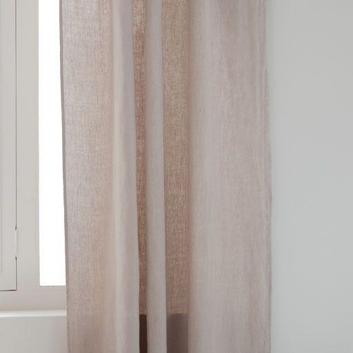 Stone Coloured Faded Linen Curtain Vorhange Leinen Leinen