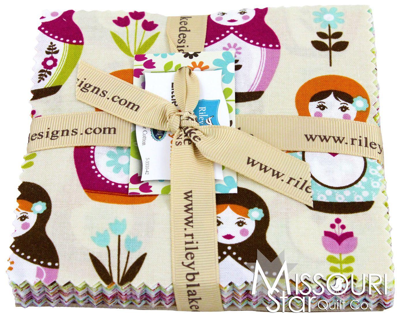 Little Matryoshka Charm Pack from Missouri Star Quilt Co Love love love love love love!!!!!