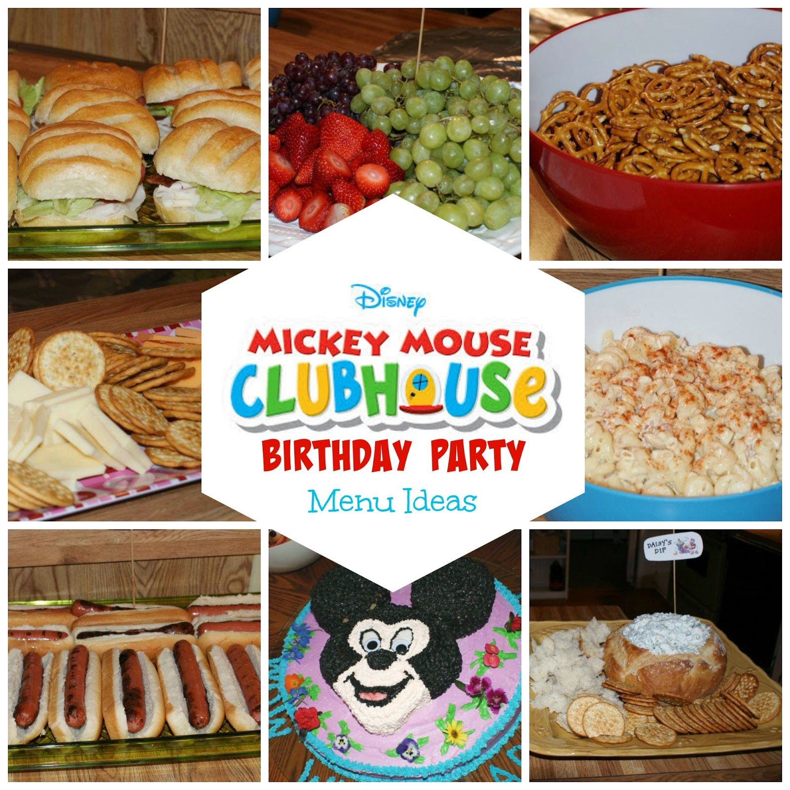 8 Mickey Mouse Birthday Party Menu Ideas Birthday Party Menu Mickey Party Foods Kids Birthday Party Food