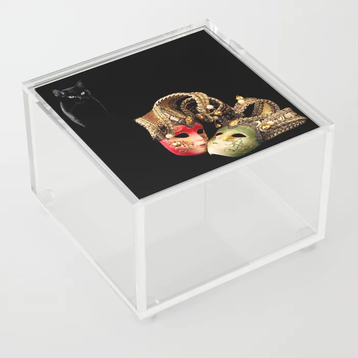 Buy Black cat and love Acrylic Box by alexlyubar. Worldwide shipping available at Society6.com. Just one of millions of high quality products available.