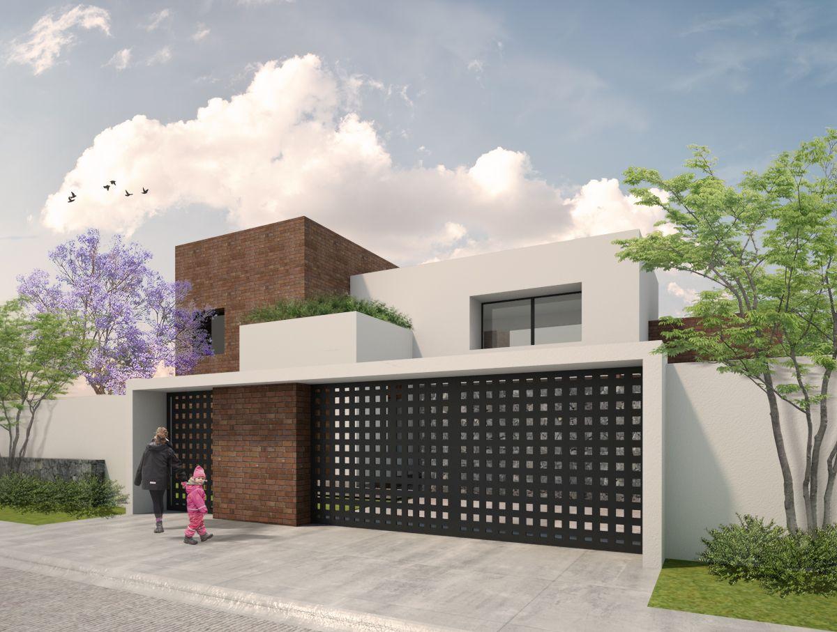 Fachada casa serena dionne arquitectos projetos for Fachadas de casas minimalistas 2016