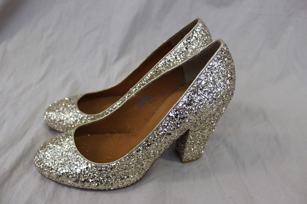 MADEWELL FRANKIE PUMP IN GLITTER SIZE 9 GOLD #MADEWELL #FLATS