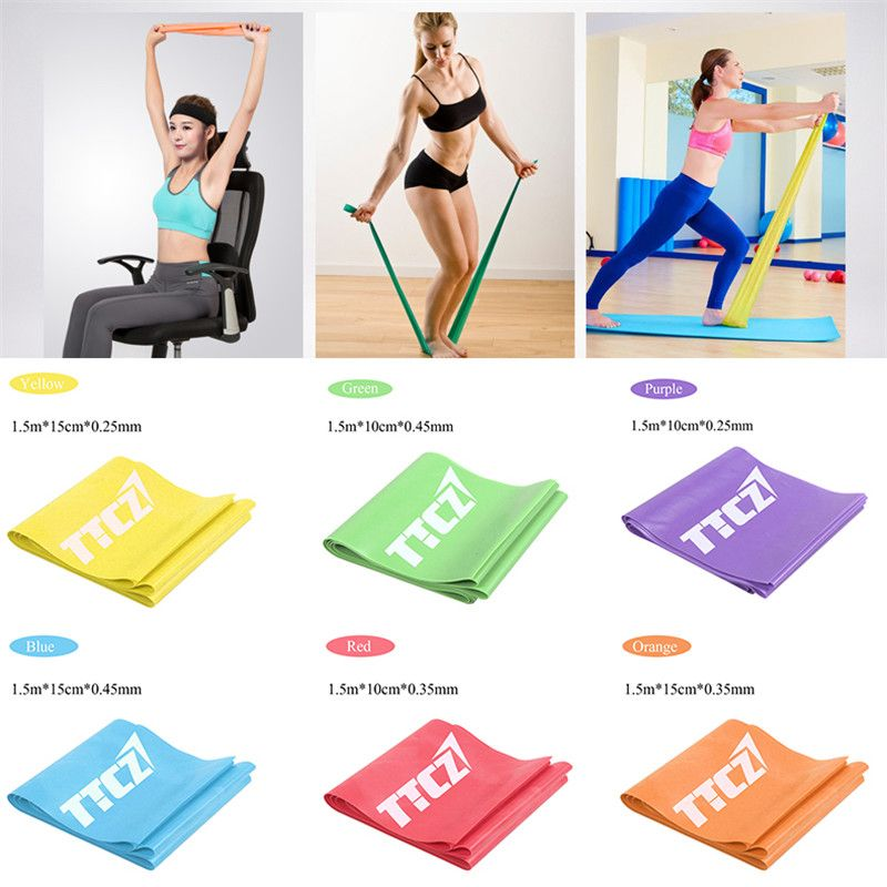 Elastic Exercise Loop Cross Fitness Weight Training Tension Resistance Bands