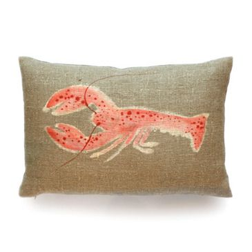 Dransfield & Ross Painted Rock Lobster Pillow - BEYOND Stores