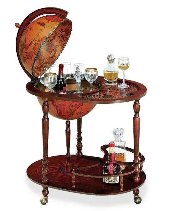 Zoffoli Giasone Bar Globe 40cm Diameter Globe Bar Cart Globe Drinks Cabinet Globe Bar