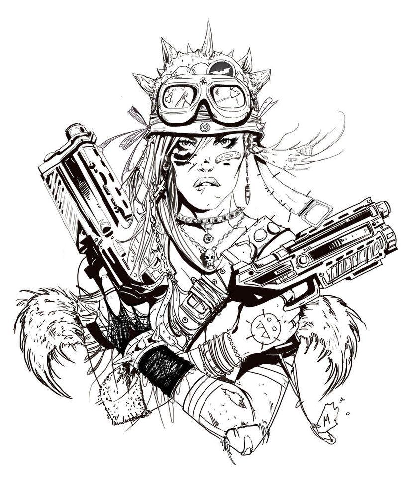 TankGirl by angryrooster on deviantART Комиксы, Рисунок