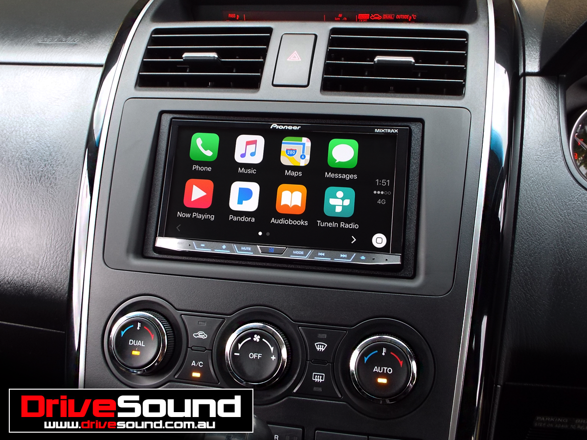 mazda cx 9 with apple carplay installed by drivesound. Black Bedroom Furniture Sets. Home Design Ideas
