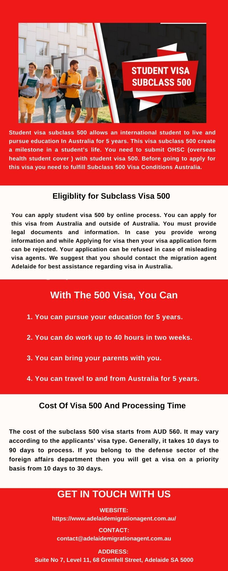 Know About the Student Visa 500 in 2020 | Education in australia, Student,  Students health