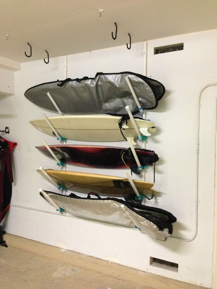 Surfboard Rack Surfboard And Pvc Pipes On Pinterest