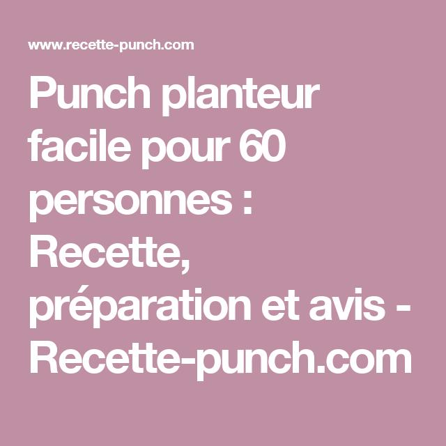 Punch Pour 60 Personnes